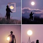 Žaidimas su mėnuliu