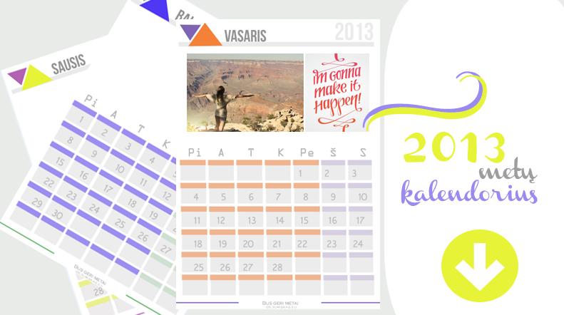 pasidaryk pats kalendoriu