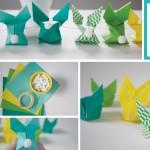 Idėjos Velykų stalo dekoravimui | Origami zuikis