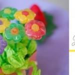 Valgoma dovana- gėlytės iš guminukų