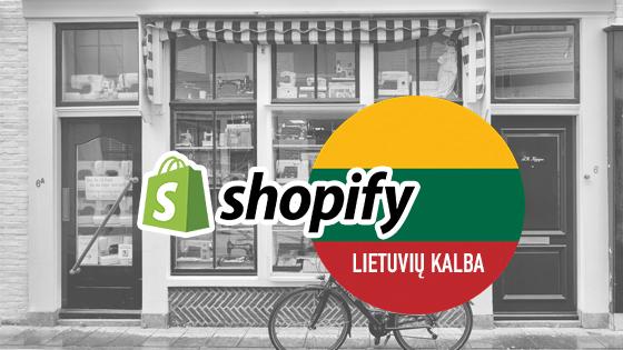shopify parduotuve lieutviu kalba