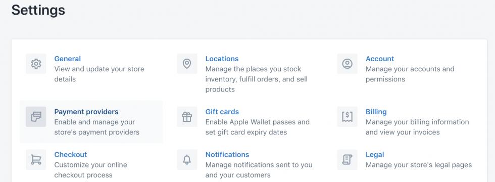 Shopify mokejimu sistemos integracija